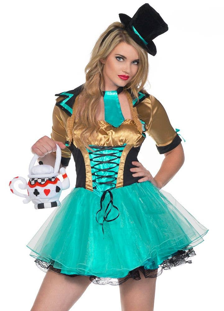 1e3d22e5bc284 Tea Party Women's Sexy Mad Hatter Costume