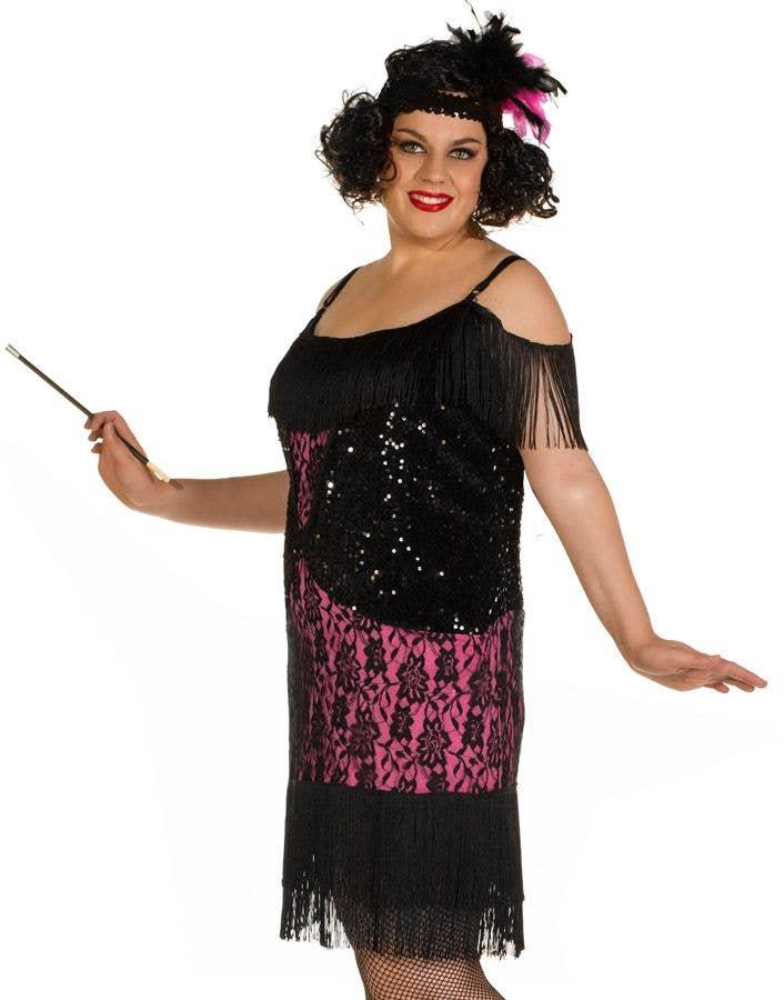 1920s Flapper Plus Size Costume Miss Viola Sexy Flapper Dress