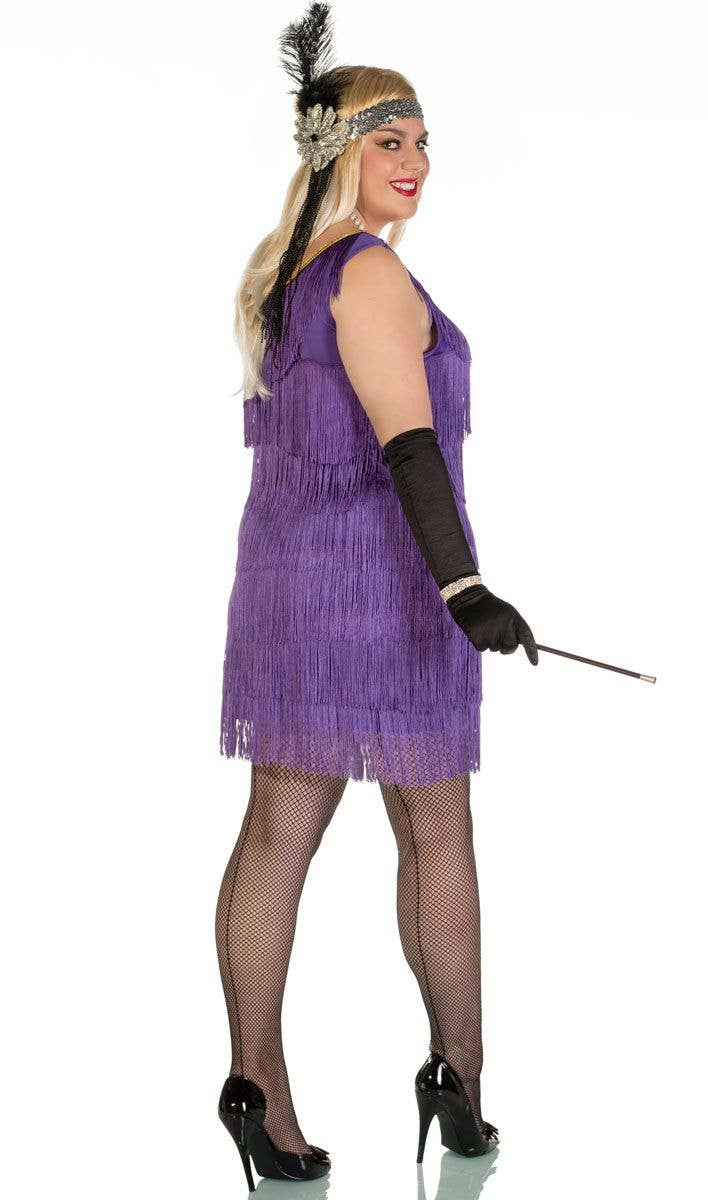 Speakeasy Plus Size 1920\'s Purple Flapper Costume