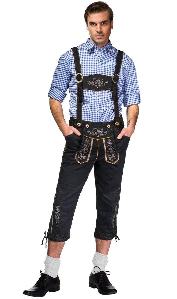 859abfc39b8 Bavarian Bjorn Men's Deluxe Lederhosen Oktoberfest Costume