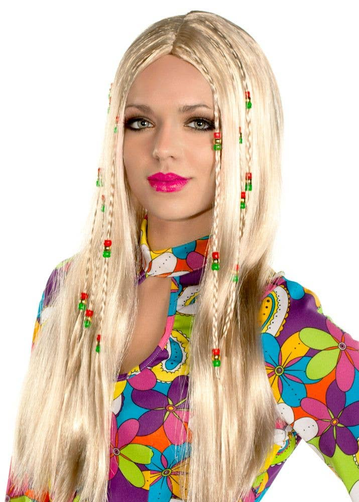 Womens Wild Child Womens Blonde Hippie Costume Wig By Elevate Costumes -  Main Image cd59df0d6a