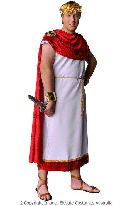 Roman Toga Costume | Marcus Brutus Plus Size Roman Men\'s Costume