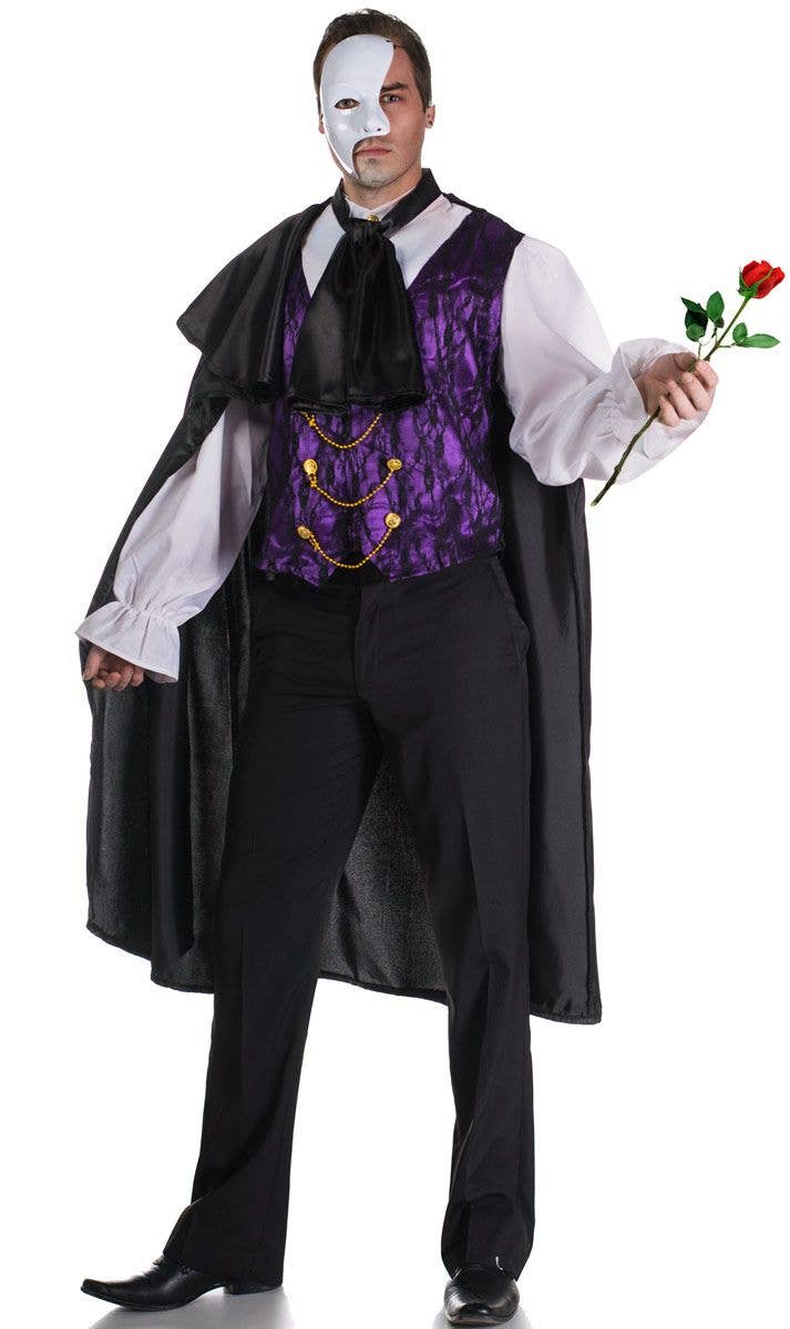 3ca42d427e81e Men's Phantom Masquerade Costume | Plus Size Men's Phantom Costume
