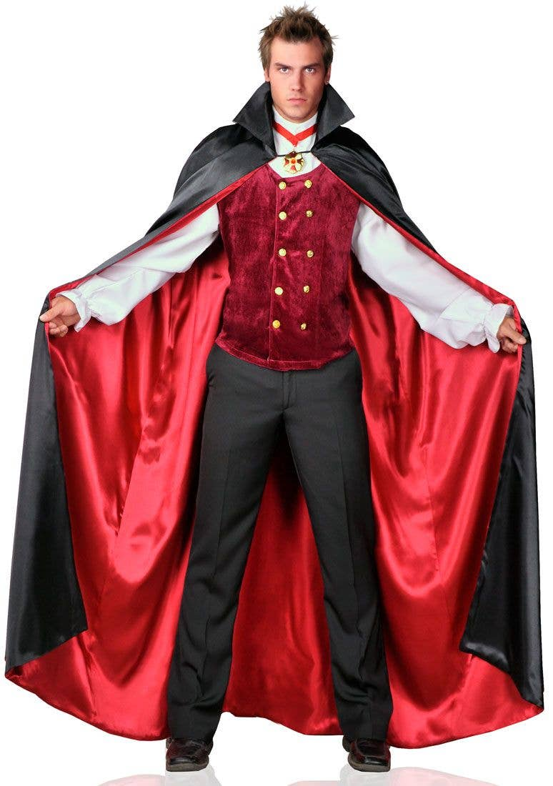 vampire men's costume | plus size count bloodthirst halloween costume