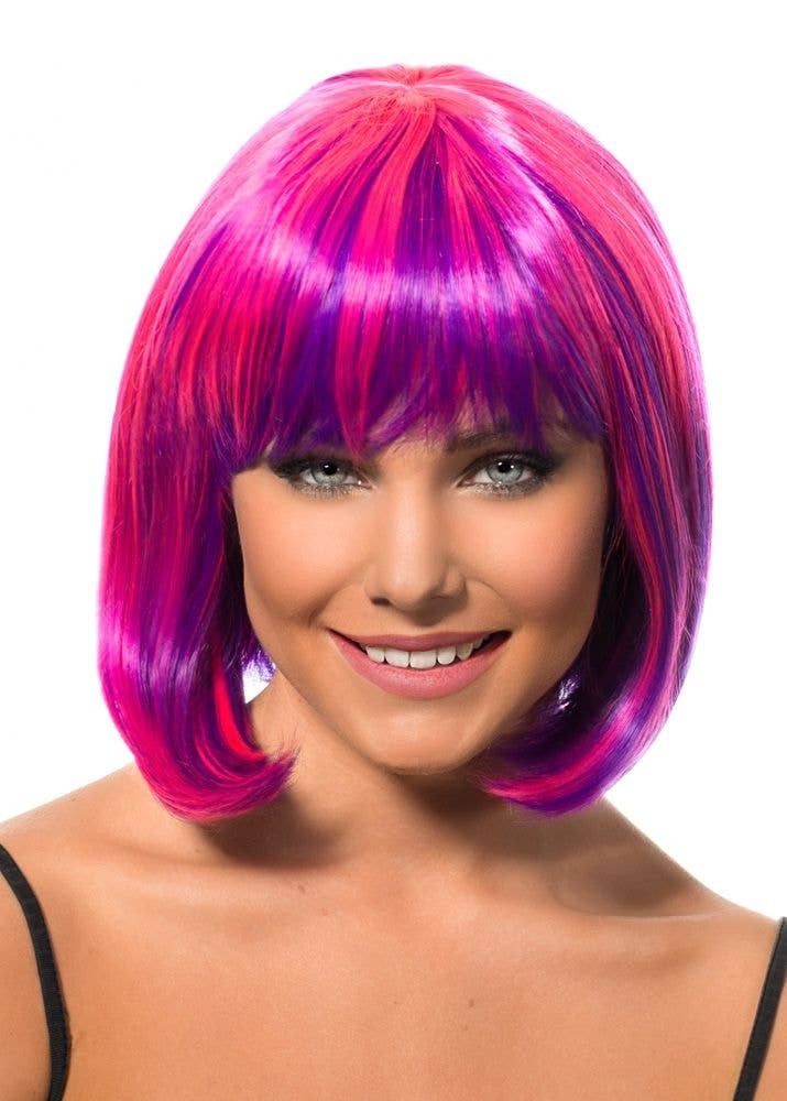 434b72c79001 Lola Pink and Purple Two-Tone Bob Wig | Deluxe Purple and Pink Wig