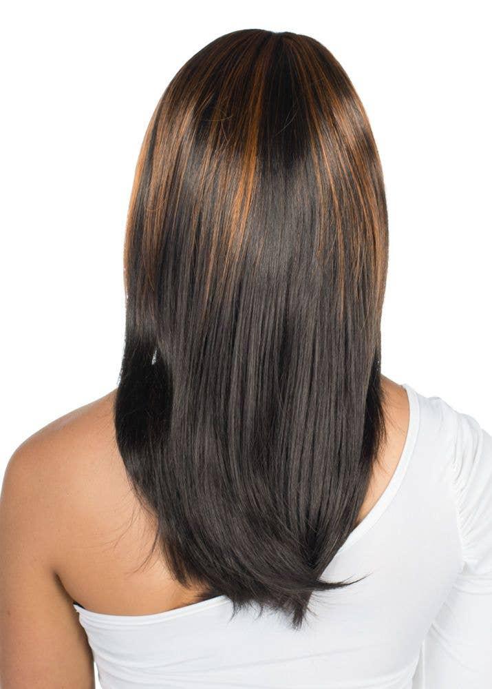 Deluxe Black And Copper Fashion Wig Carla Deluxe Women S Wig