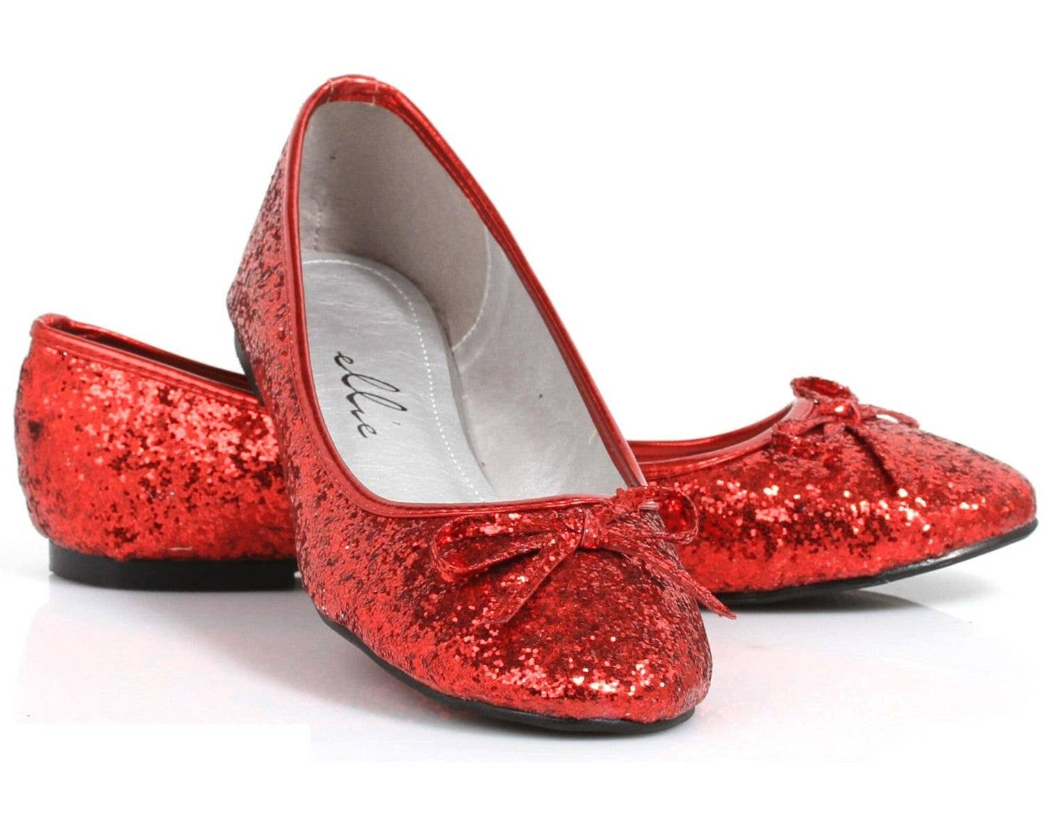 Women s Red Glitter Dorothy Wizard of Oz Flat Costume Shoes Main Image 2be718f96f