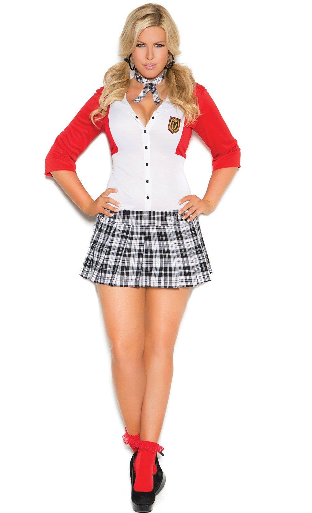 dean list schoolgirl sexy costume  school girl plus size