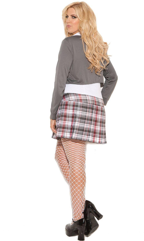 38576beda08 Queen of Detention Sexy Schoolgirl Plus Size Costume Back