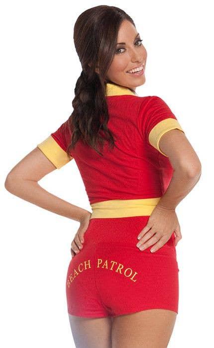 25b77638a52f Women s Baywatch Lifegaurd Costume Back View. Baywatch Women s Red Surf  Lifesaver ...