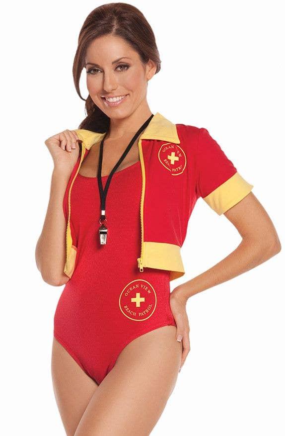 4e195fb6733 Surf Lifesaver Women s Baywatch Fancy Dress Close Up