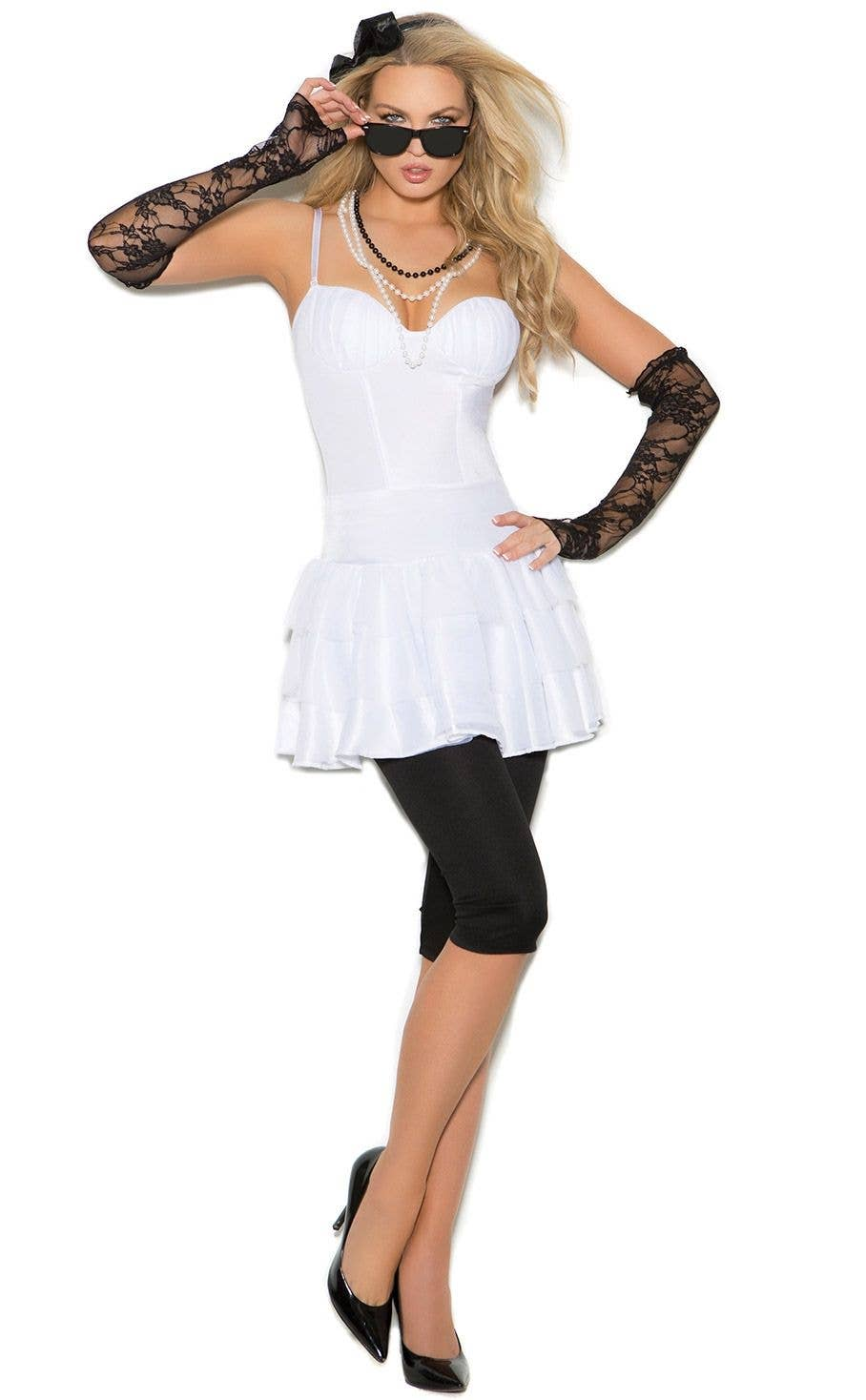 Madonna Like a Virgin Sexy Women s Dress Up Costume Front c56db38d175e