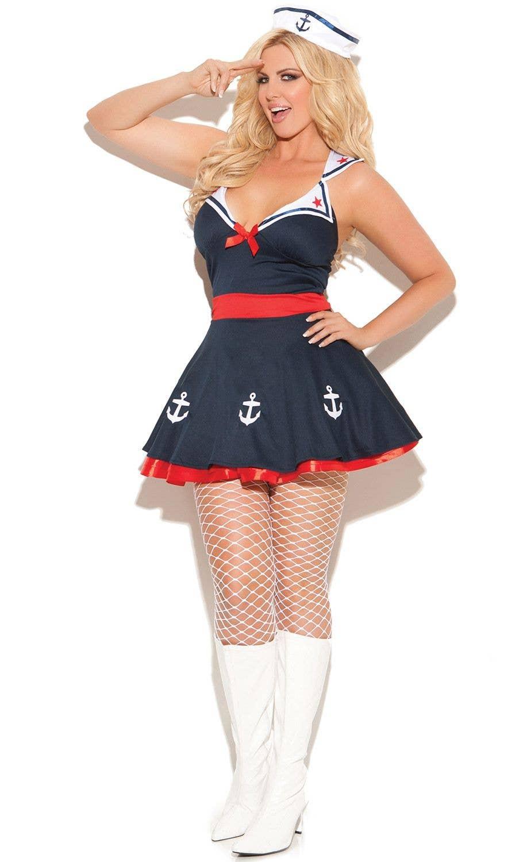 Plus Size Sailor s Delight Sexy Women s Costume Front 097cd6cbc4c3