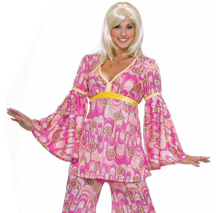 186d17534bf Flower Power Women s 1960 s Hippie Fancy Dress Costume Close Image