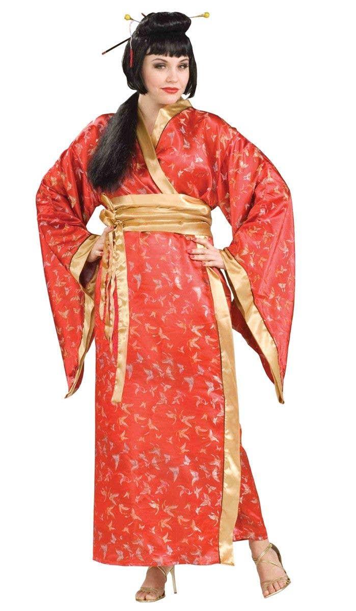 d027c872b43 Red Japanese Kimono Women s Plus Size Geisha Costume Main Image
