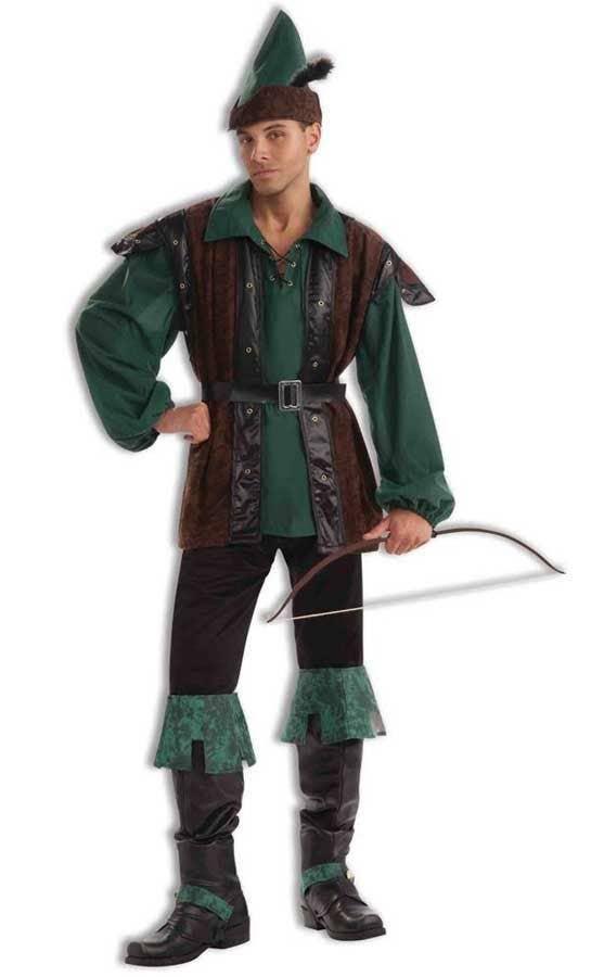 689151efc2a Deluxe Men s Robin Hood Hunter Fancy Dress Costume