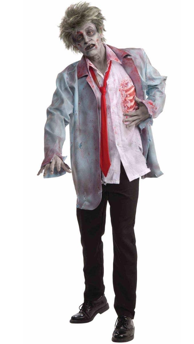 men's zombie man halloween costume | walking dead zombie costume