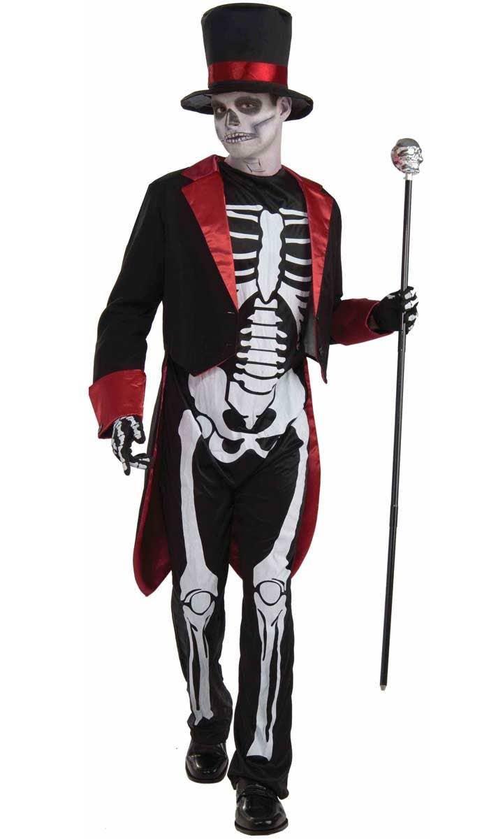 mr bone jangles teen boys costume | skeleton man halloween costume