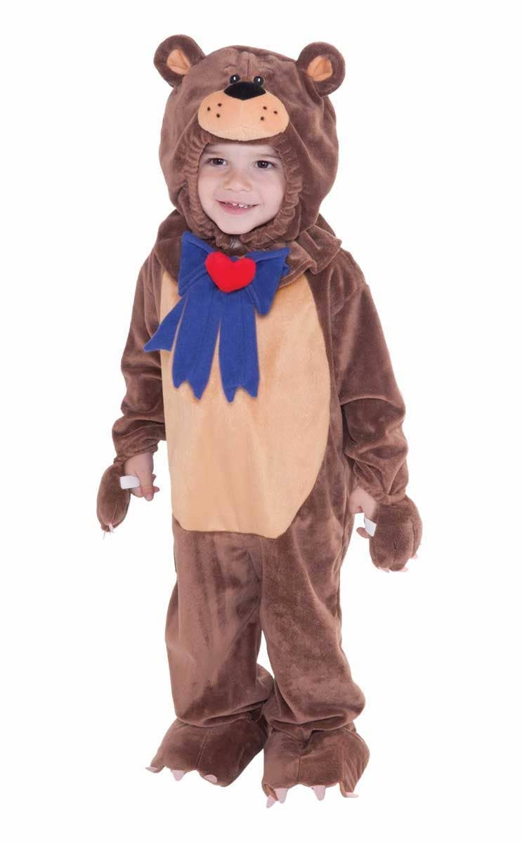 468e60604bc9 Toddler s Brown Teddy Bear Onesie Costume Front View