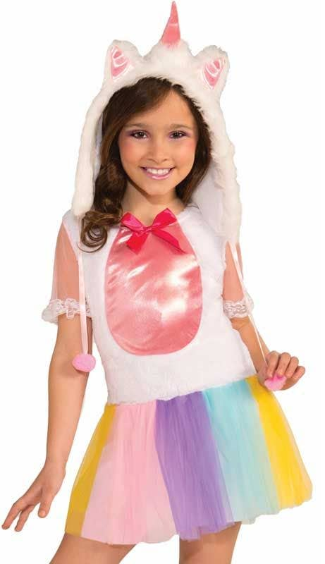 white unicorn girls pastel tutu cute animal dress up front