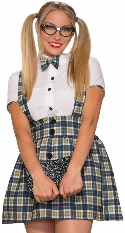 c84ef22f5efe 1950's Nerd Girl Women's Costume | Women's Geek Schoolgirl Costume