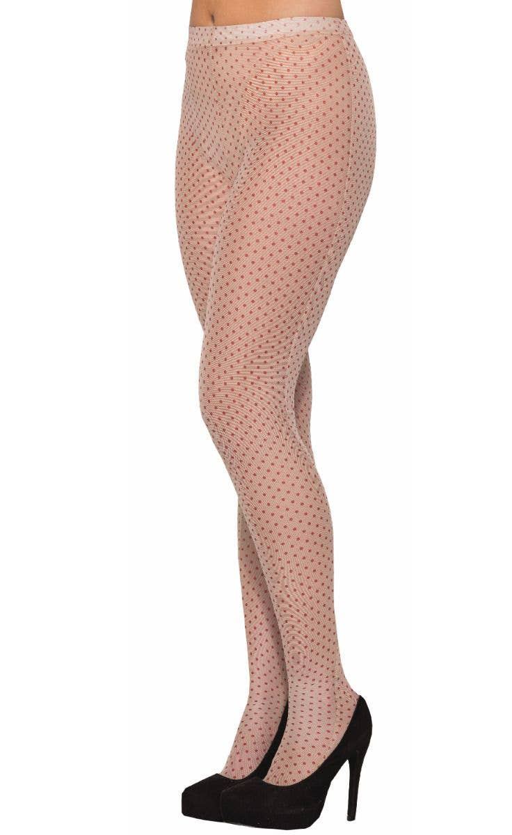 250439096 Pop Art Nude Red Dot Stockings Retro Costume Accessory Main Image