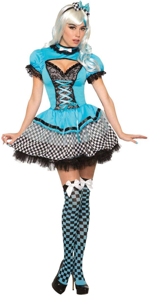 Childs Mad Hatter Top Hat Book Week Fancy Dress 8-14 Alice In Wonderland