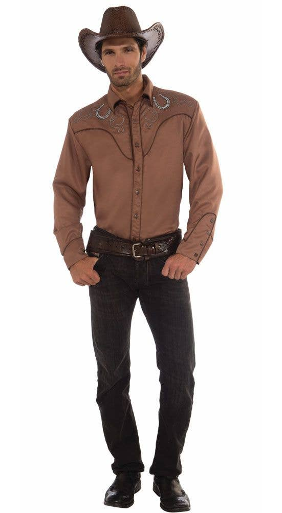 1314694dc More Views of Men s Brown Cowboy Costume Top