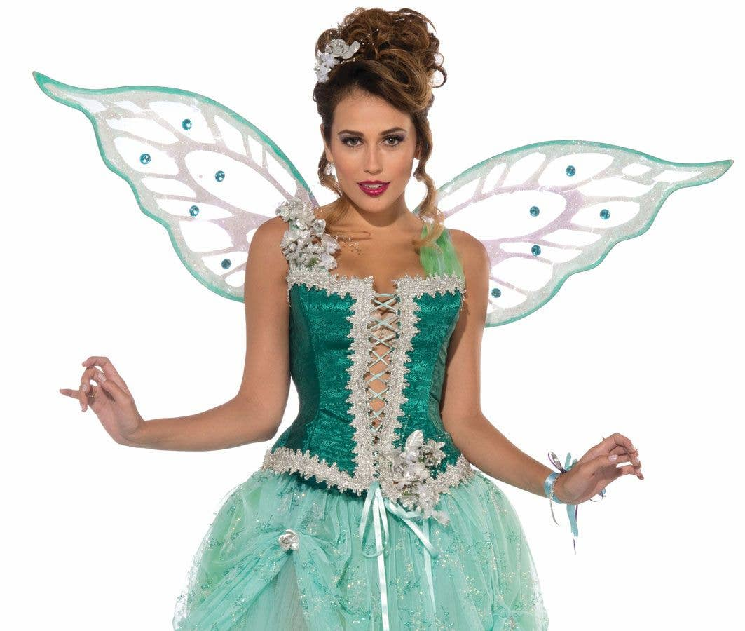 More Views of Womenu0027s Green Fairy Costume  sc 1 st  Heaven Costumes & Green Fairy Costume | Emerald Fairy Deluxe Womenu0027s Costume