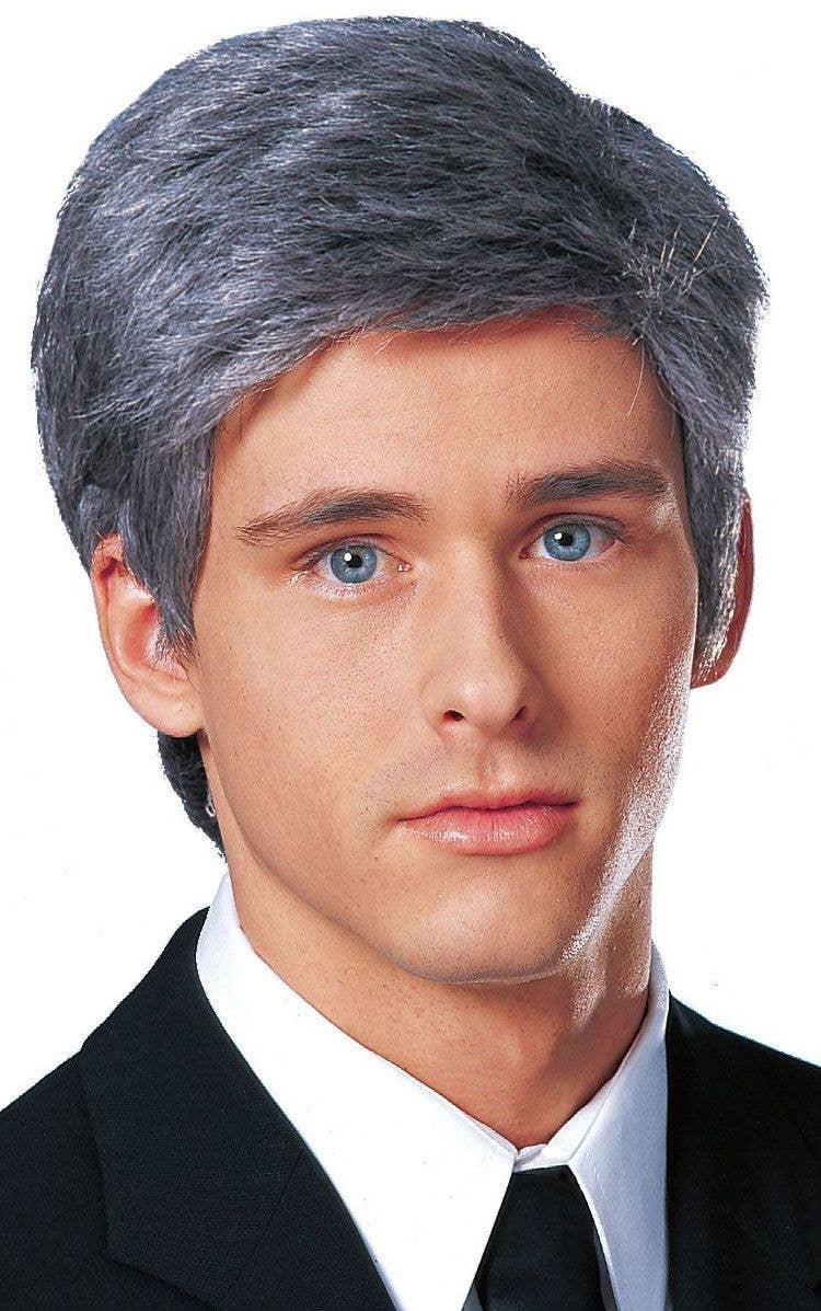Business Man Dark Grey Men s Costume Wig e93085a69