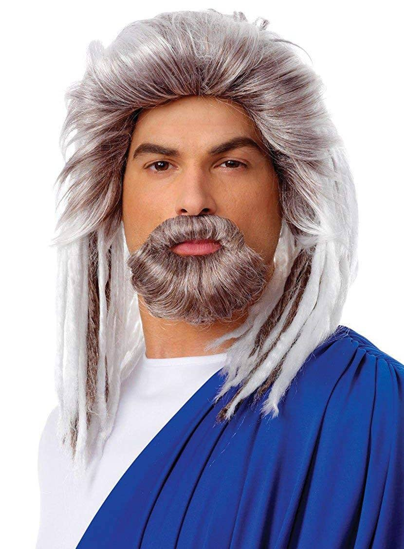 King Of The Sea Poseidon Beard And Wig Set