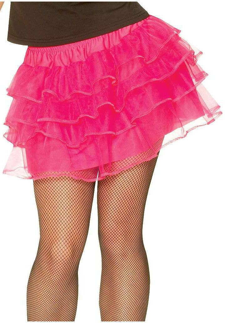 865360c1c Women's 1980's Hot Pink Ra Ra Fancy Dress Petticoat Alternate Image