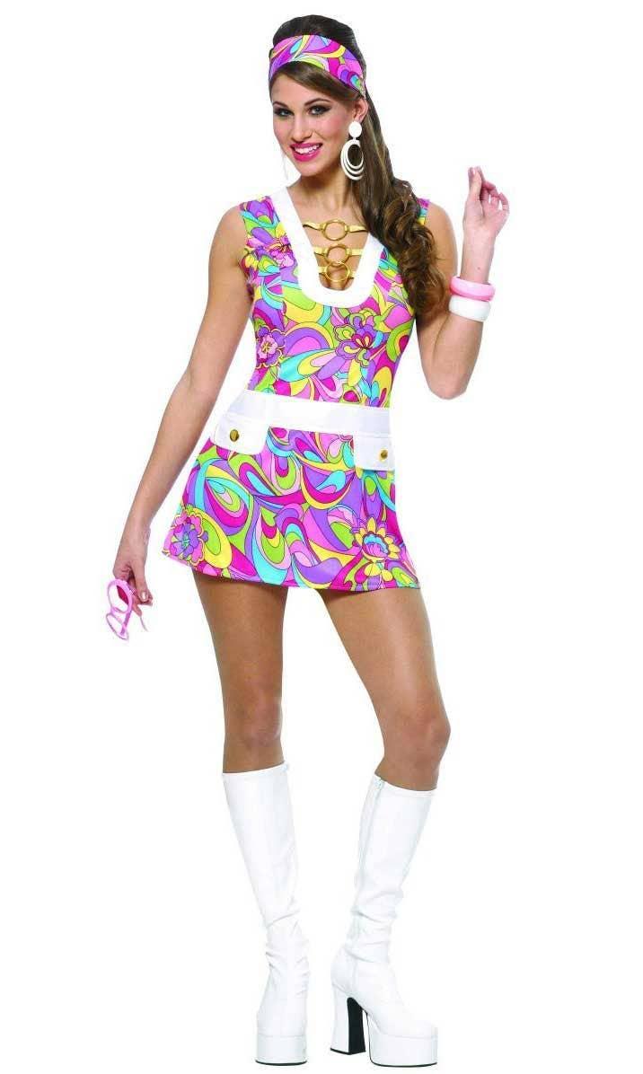 b9e60c468d50 Women's Groovy 60's Costume | Women's Sexy 1960's Retro Costume