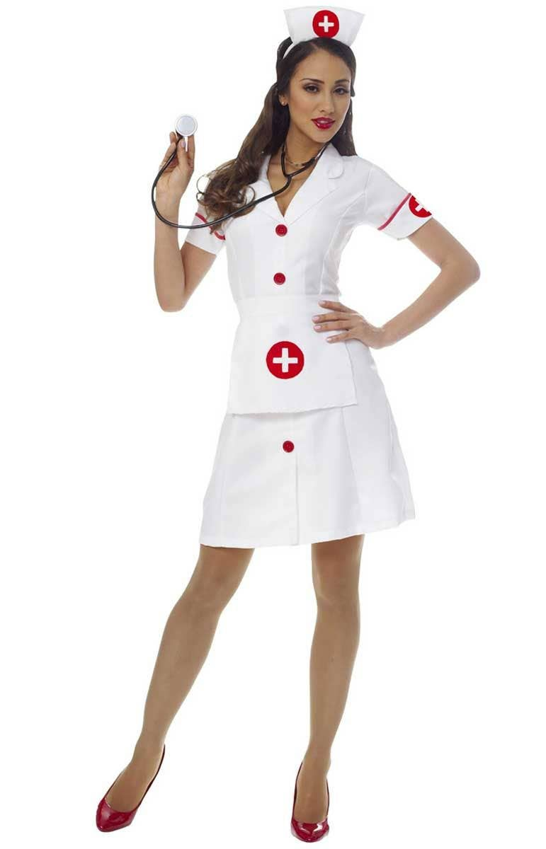 56437ed91867b Women's White Nurse Costume | Women's Classic Medical Costume