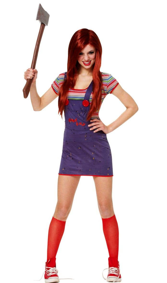 More Views of Teen Girls Chucky Costume 8459b31a7