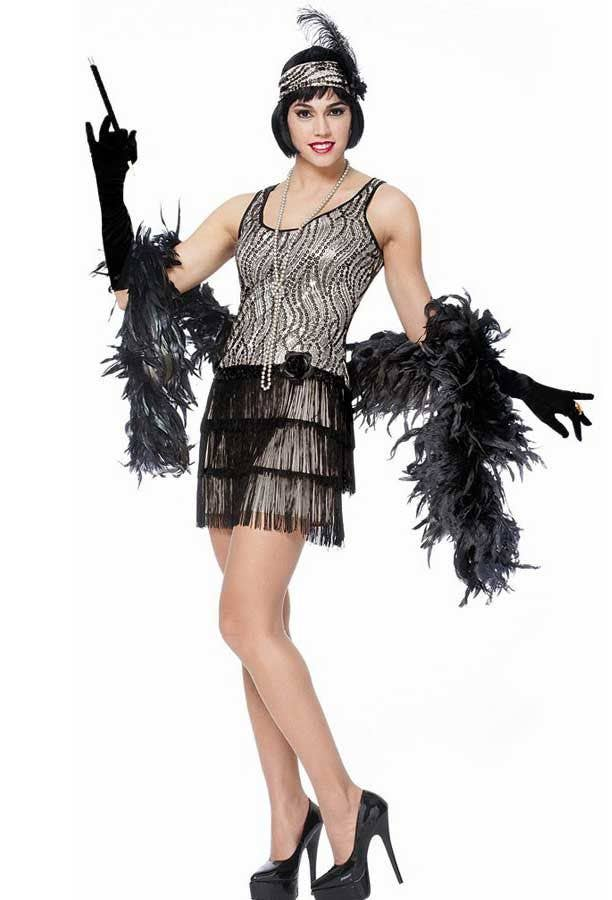 women's silver sequinned flapper dress  deluxe silver