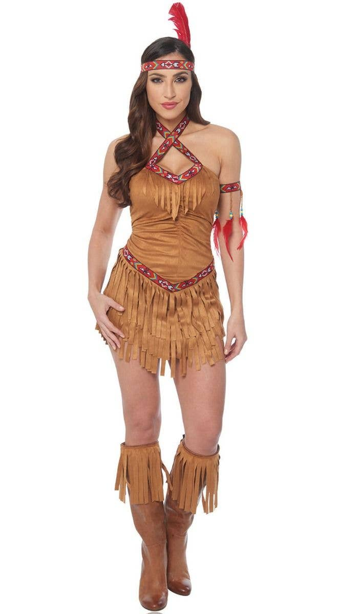 05092e29617 Women s Sexy Native American Indian Princess Fancy Dress Costume Main Image