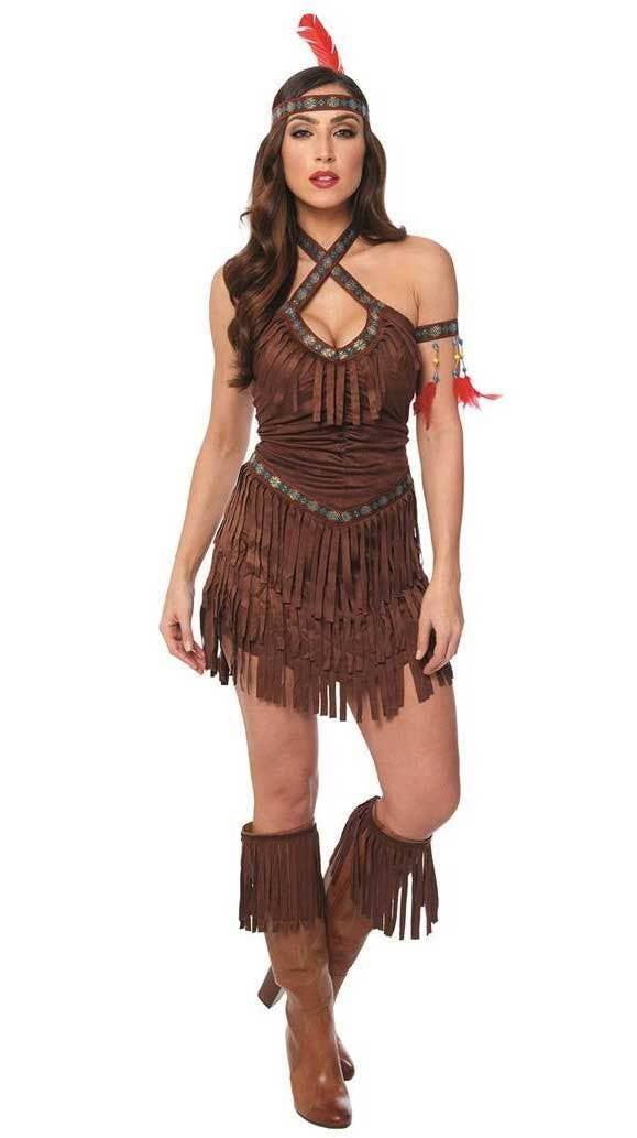 48f84ceaf16 Sexy Women s American Indian Fancy Dress Costume Main Image