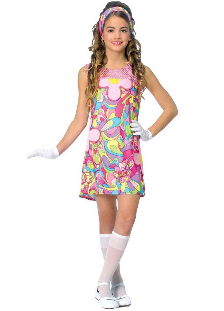 310cfd7a289ff Groovy Girl Kids 60's Costume