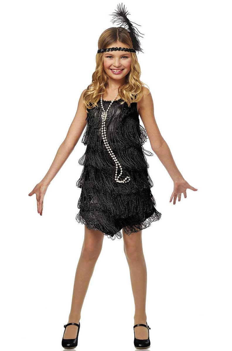 c078aa81d 20 s Black Flapper Girls Costume