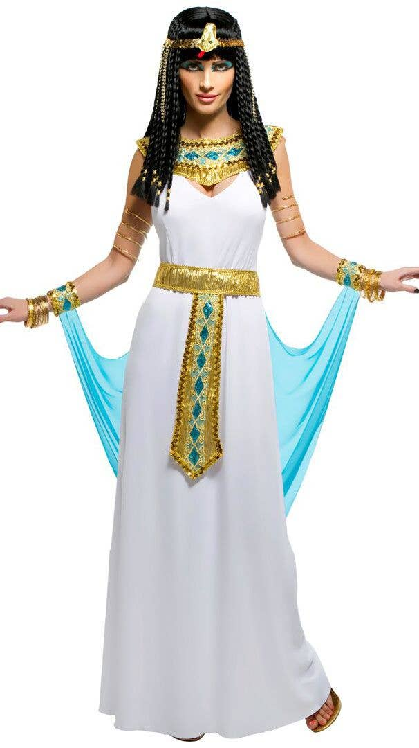 b5b86a5fcb8 Women s Sexy Blue and Gold Queen Cleopatra Egyptian Fancy Dress Costume