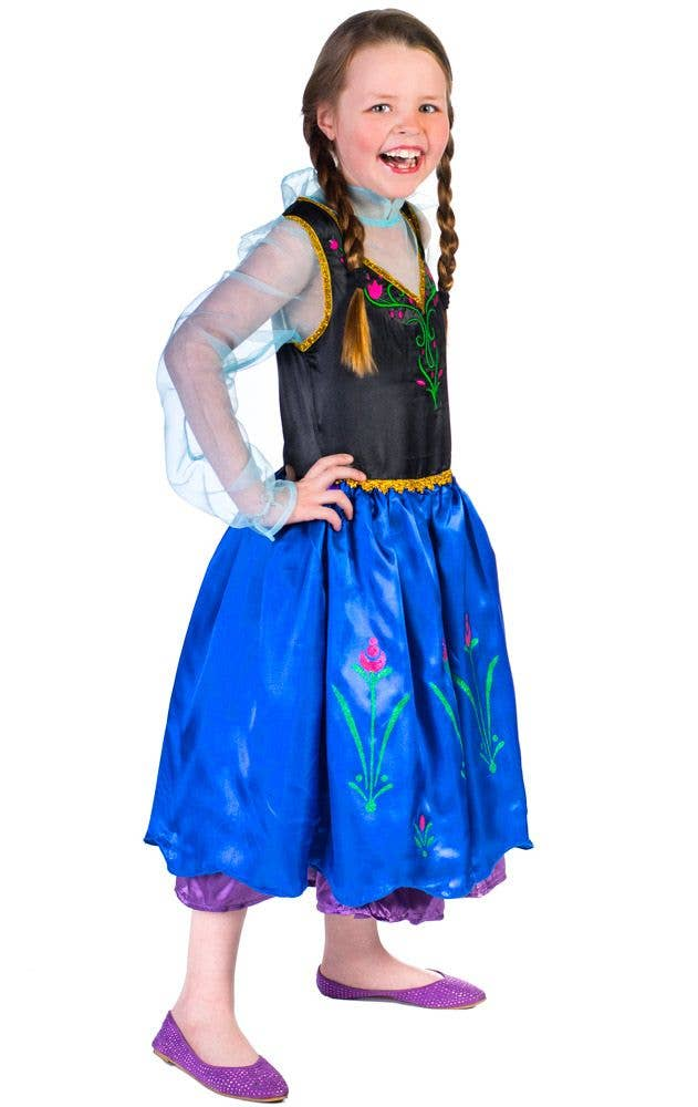 ... Disney Princess Anna Girlu0027s Costume Side View ...  sc 1 st  Heaven Costumes & Princess Anna - Frozen Girls Costume | Book Week Kids Costume