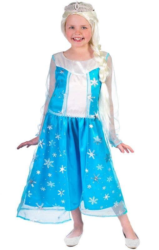Girlu0027s Elsa Frozen Dress Up Costume Front View  sc 1 st  Heaven Costumes & Disneyu0027s Frozen Girls Elsa Costume | Frozen Elsa Book Week Costume