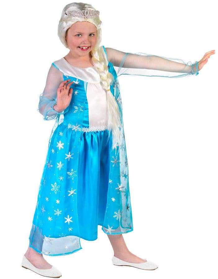 ... Queen Elsa Girlu0027s Frozen Fancy Dress Side View  sc 1 st  Heaven Costumes & Disneyu0027s Frozen Girls Elsa Costume | Frozen Elsa Book Week Costume