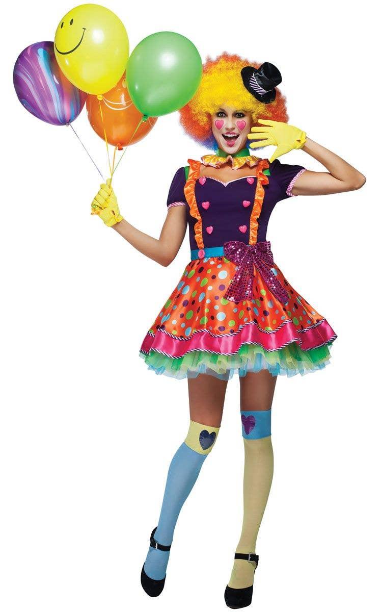 c9f49480c9fb7 Colourful Clown Costume   Women's Circus Clown Sexy Costume