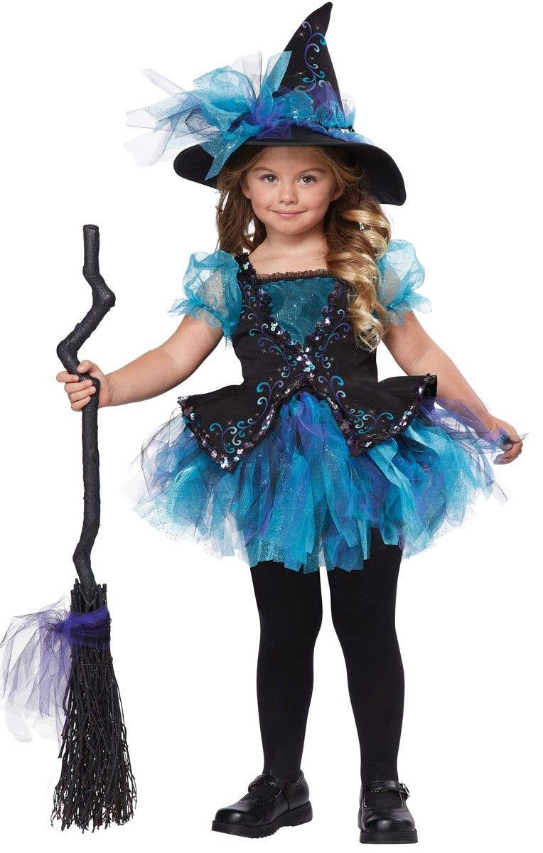 girl's darling little witch costume | toddlers halloween costume