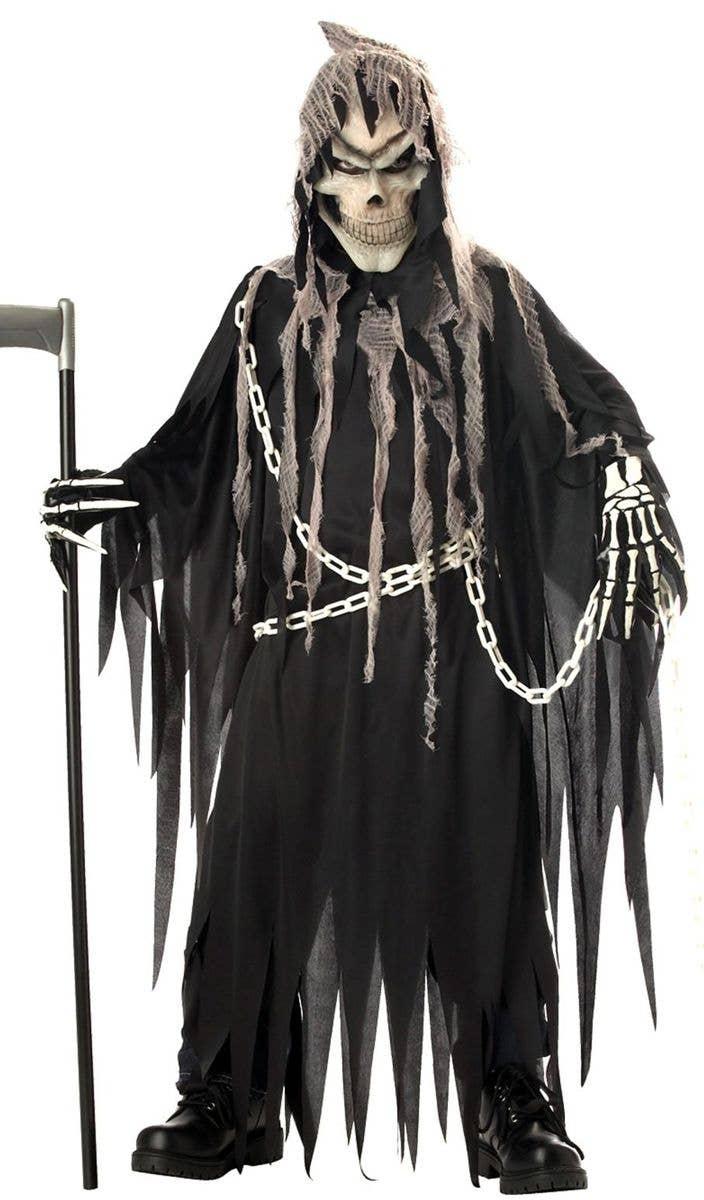 ef53831095 Mr Grim Deluxe Boys Grim Reaper Halloween Costume