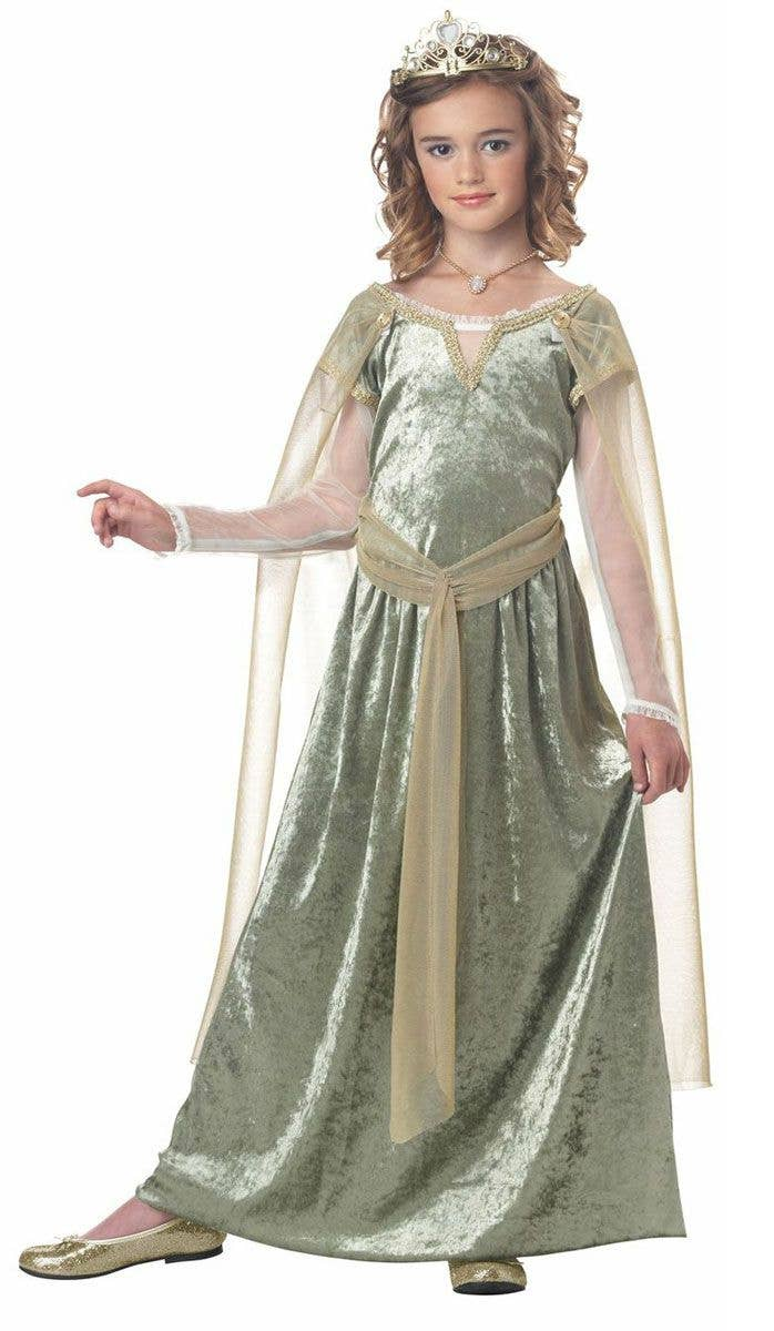 f9a86da53678 Girls Renaissance Queen Medieval Costume Front View · Be the ...