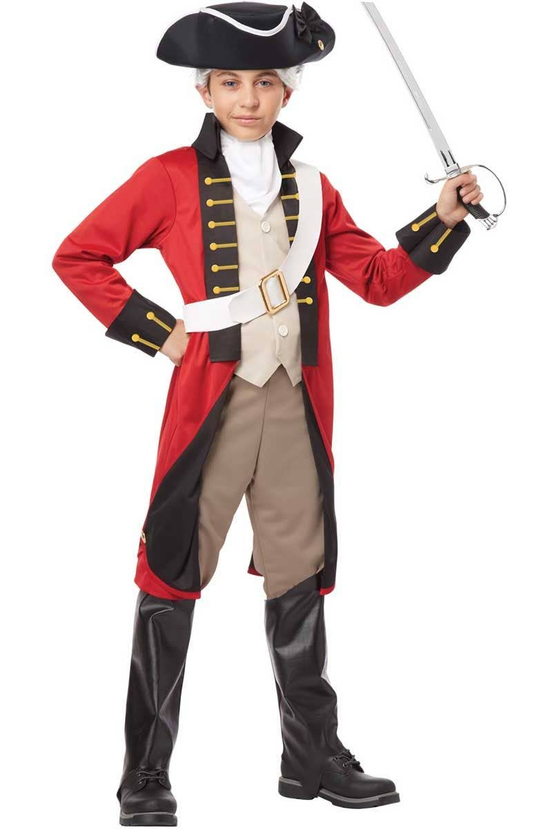 9ac6f1302 Boys Red British Colonial Costume Front View