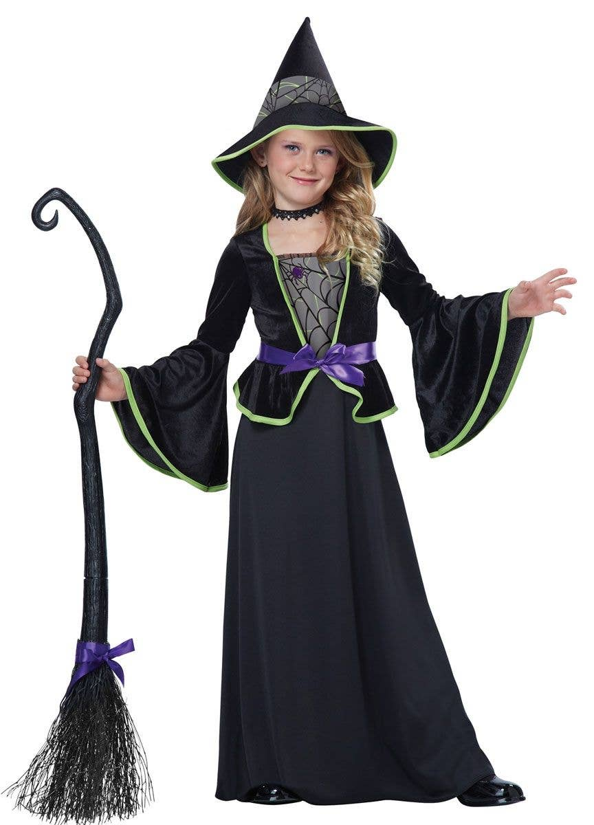 f926fadd3f0 Classic Black Witch Girl's Halloween Costume